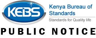 KEBS Public Notice